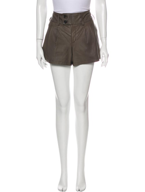 Gucci Leather Mini Shorts