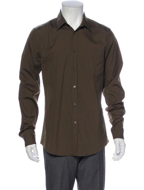 Gucci Long Sleeve Dress Shirt Green