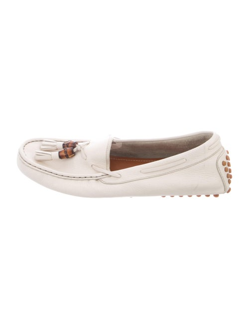 Gucci Bamboo-Accented Leather Loafers Leather Loaf