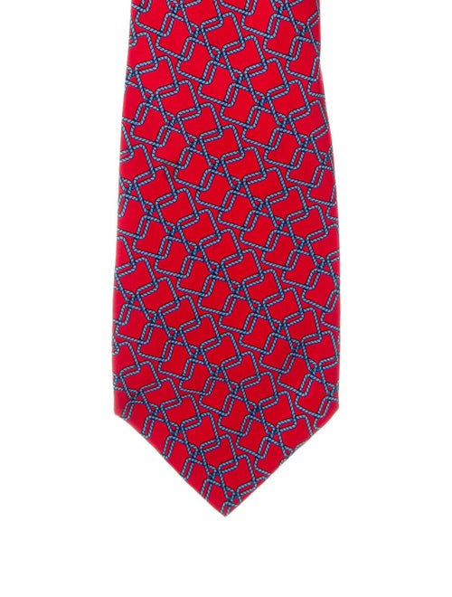 Gucci Silk Printed Tie red