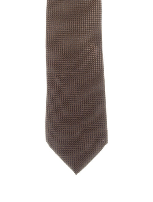 Gucci Silk Jacquard Tie brown