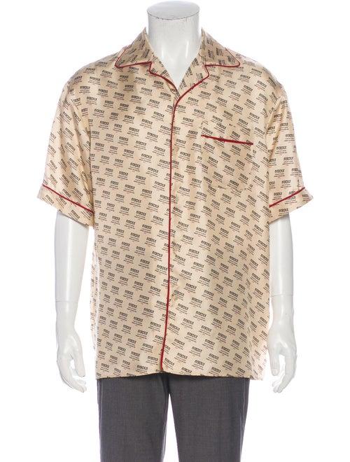 Gucci 2018 Invite Stamp Bowling Shirt