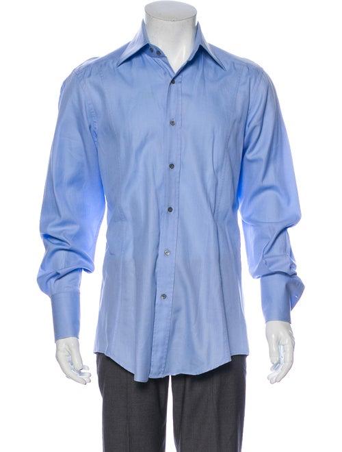 Gucci Long Sleeve Dress Shirt Blue