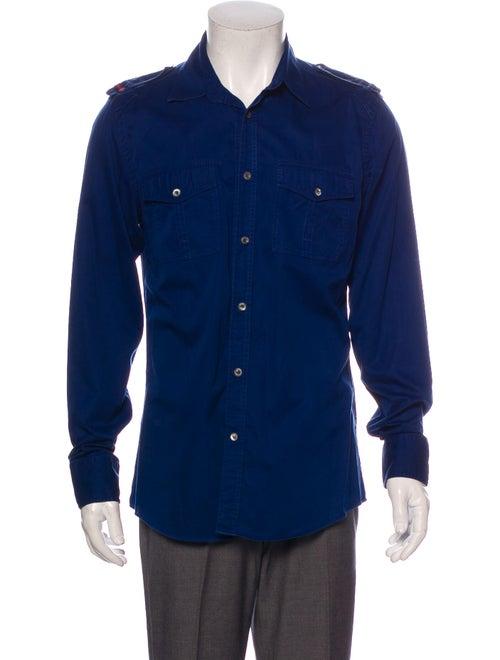 Gucci Long Sleeve Shirt Blue