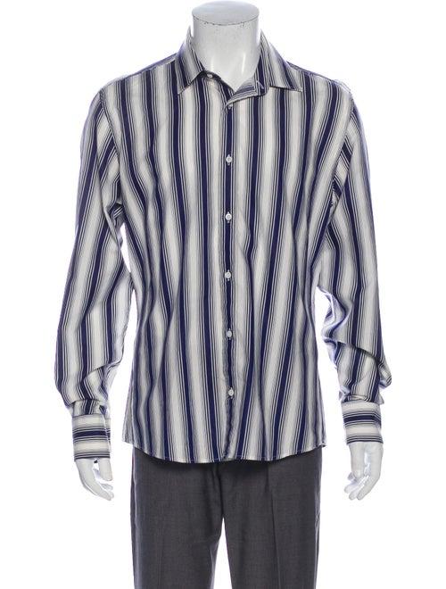 Gucci Striped Long Sleeve Shirt Blue