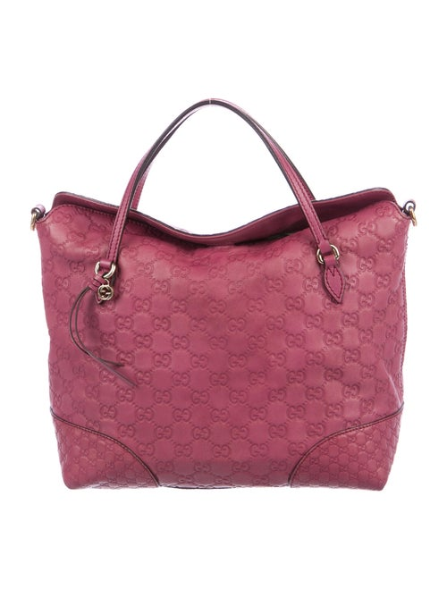Gucci Signature Bree Top Handle Bag Mauve
