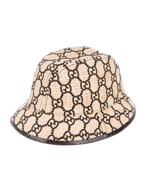 Gucci GG Straw Fedora Hat Tan - image 1
