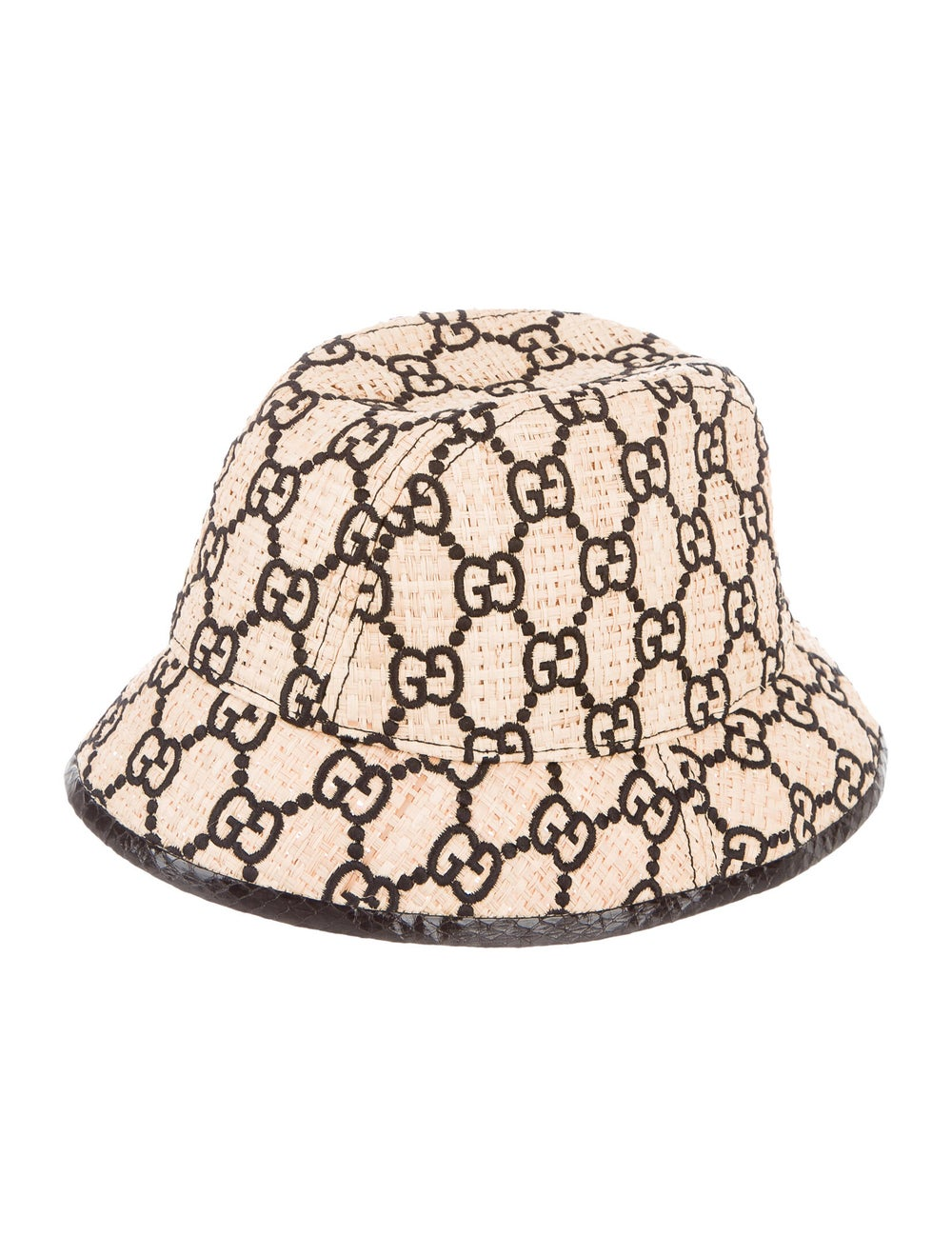 Gucci GG Straw Fedora Hat Tan - image 2