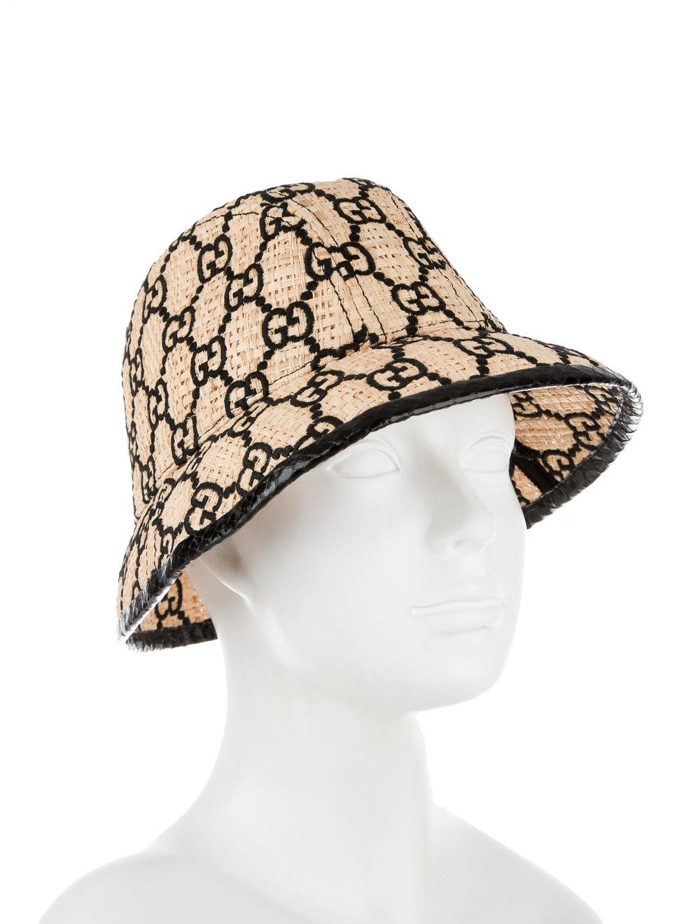 Gucci GG Straw Fedora Hat Tan - image 3