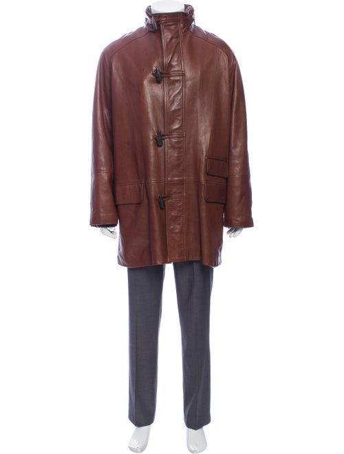 Gucci Leather Jacket Brown