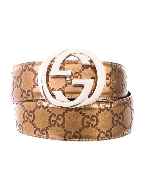Gucci GG Signature Metallic Belt Metallic