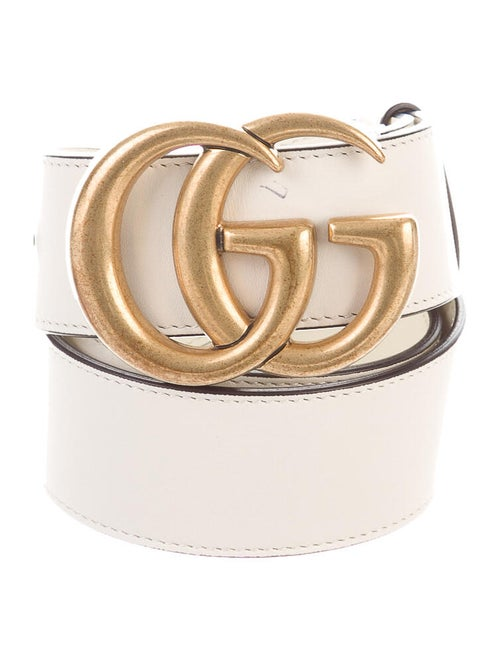 Gucci GG Leather Belt gold