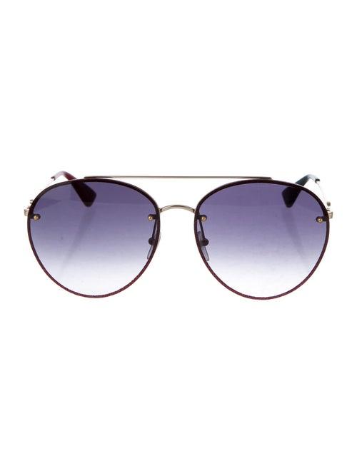 Gucci Gradient Round Sunglasses Gold