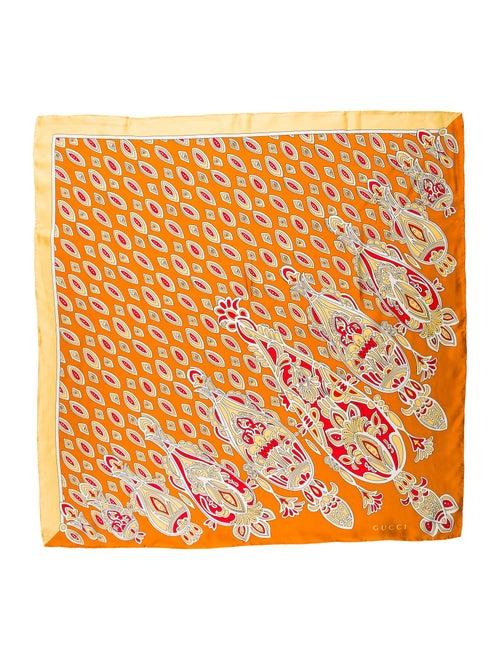 Gucci Silk Printed Scarf Orange
