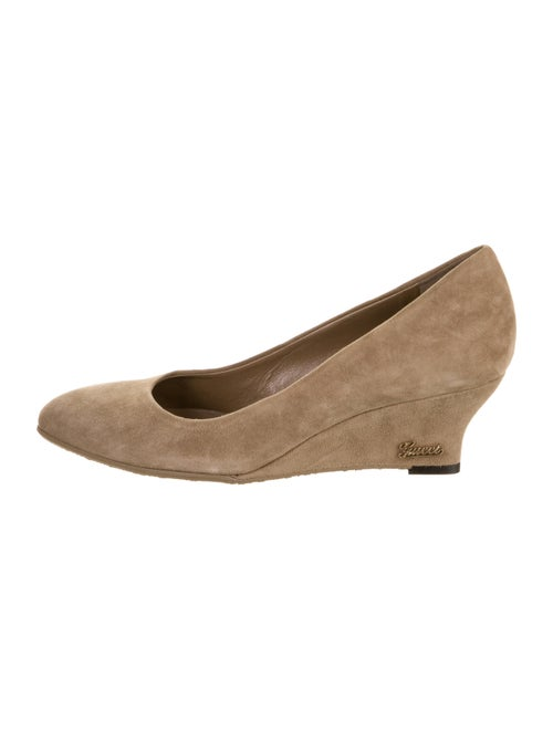 Gucci Suede Pointed-Toe Wedges