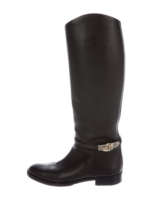 Gucci Leather Riding Boots Brown