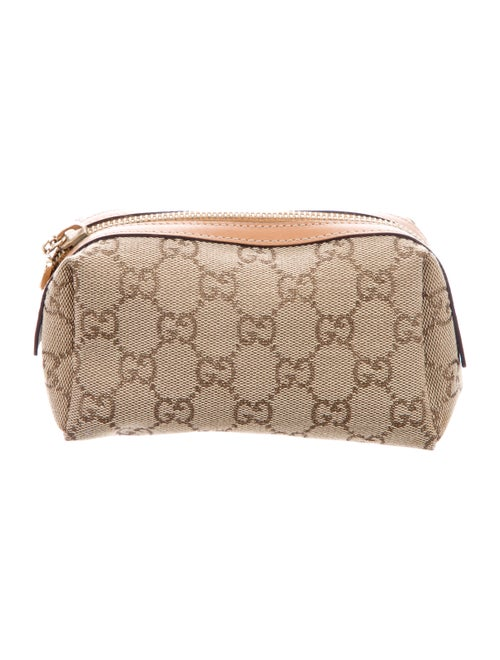Gucci GG Canvas Cosmetic Bag Tan