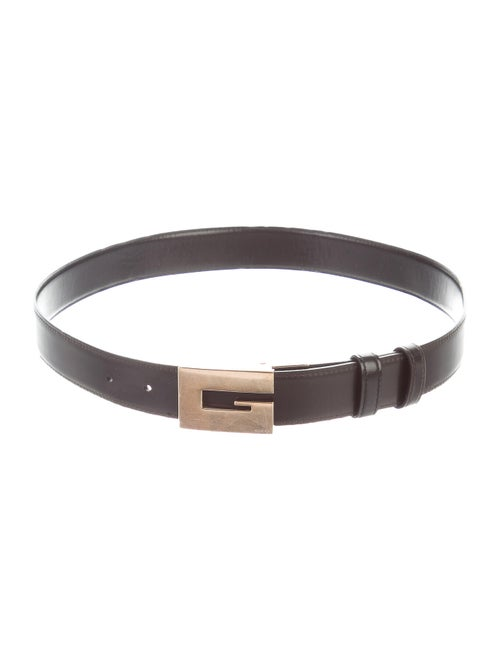 Gucci Reversible Leather Belt Black