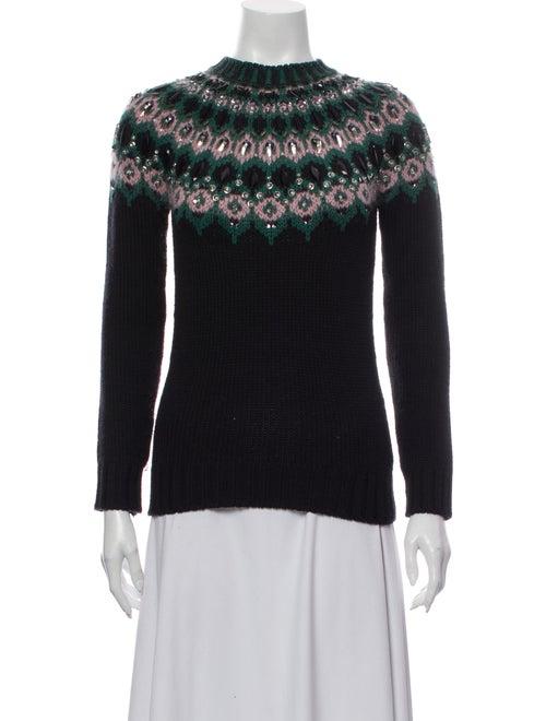 Gucci Wool Printed Sweater Wool
