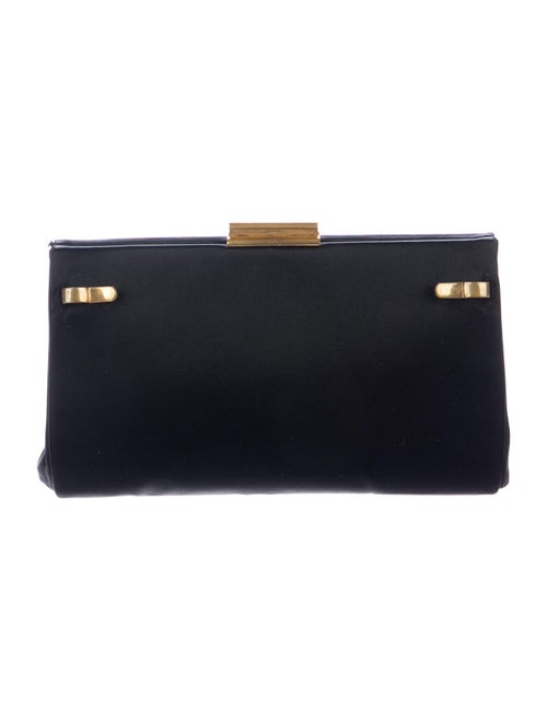 Gucci Vintage Satin Clutch Black