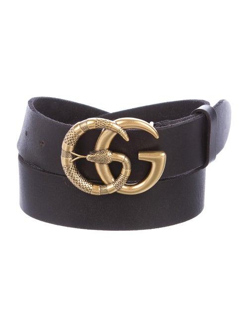 Gucci GG Leather Belt Black