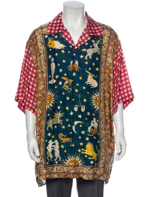 Gucci Zodiac Bowling Silk Shirt w/ Tags