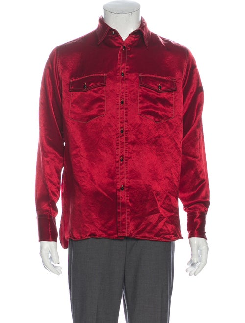 Gucci Long Sleeve Shirt Red