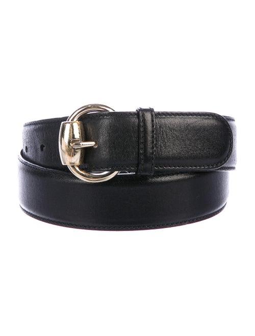 Gucci Leather Buckle Belt Black