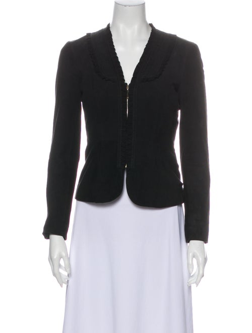 Gucci Leather Evening Jacket Black