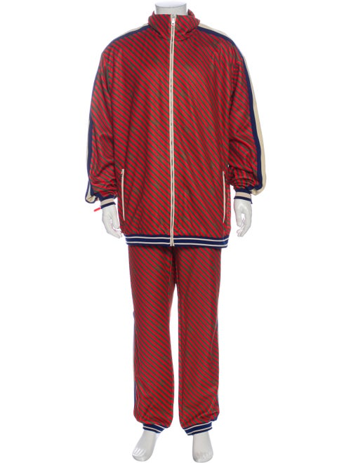 Gucci Striped Lounge Set w/ Tags Red