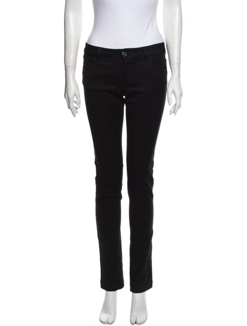 Gucci Low-Rise Straight Leg Jeans Black