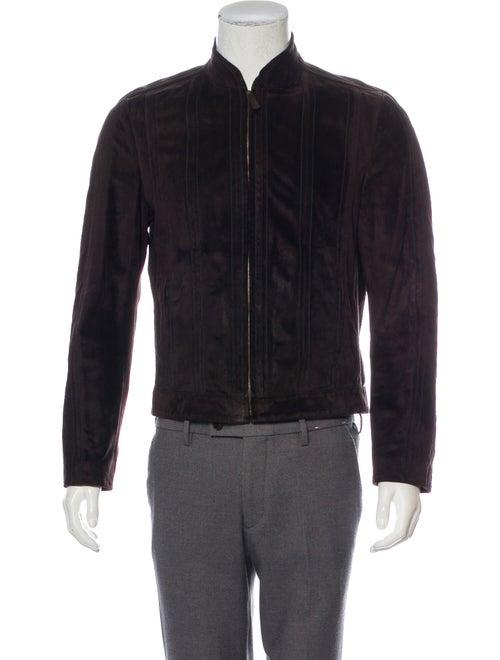 Gucci Suede Zip Jacket brown