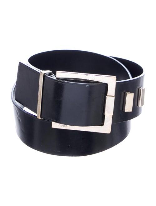 Gucci Patent Leather Buckle Belt Black