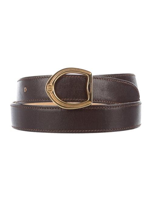 Gucci Vintage Leather Belt gold
