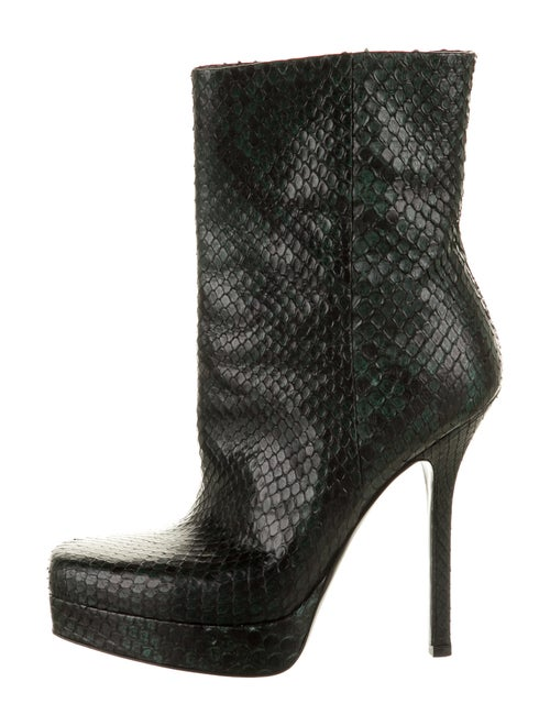 Gucci Snakeskin Boots Green