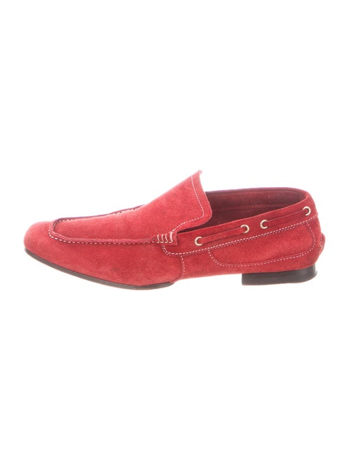 Gucci Vintage Suede Loafers Red