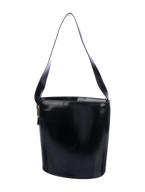 Gucci Vintage Leather Bucket Bag Black