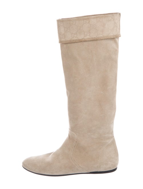 Gucci Suede Riding Boots
