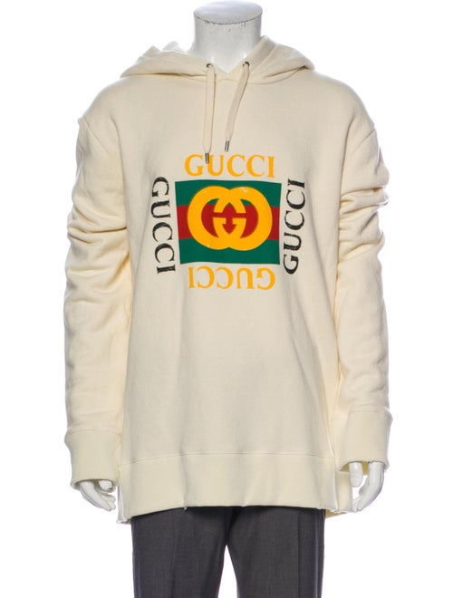 Gucci Oversize Logo Graphic Print Hoodie