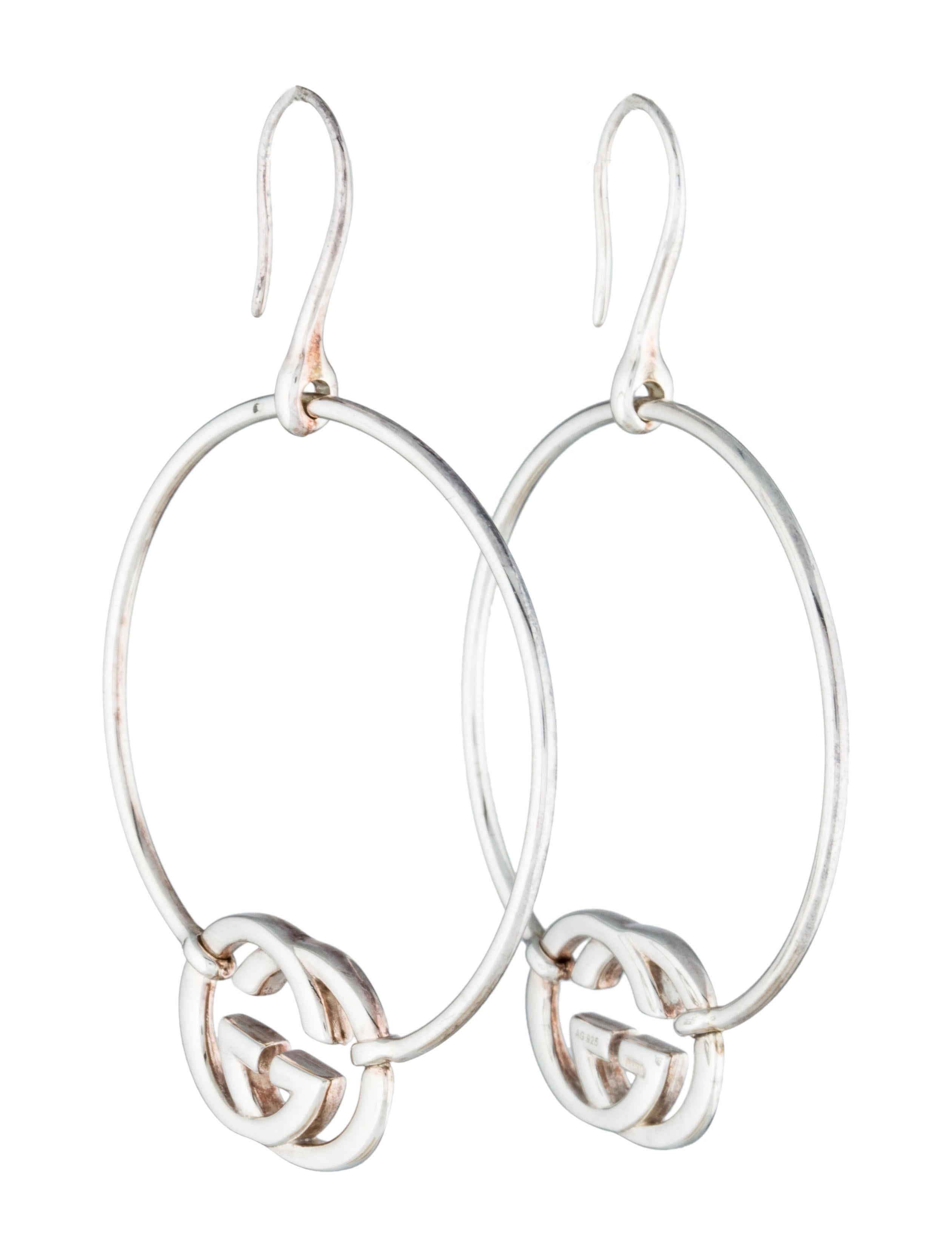 603fb0a20e7 Gucci Britt GG Hoop Earrings - Earrings - GUC52061