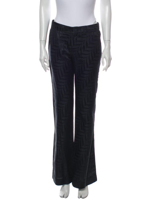 Gucci Striped Wide Leg Pants Blue
