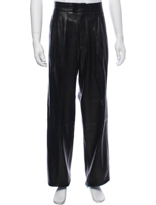 Gucci Leather Pants black