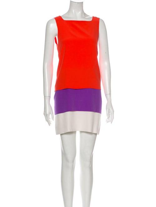 Gucci Silk Mini Dress Orange