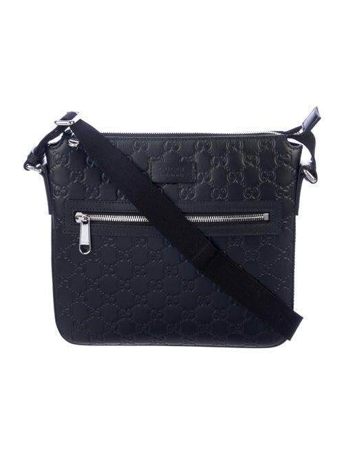 Gucci Signature Messenger Bag Black - image 1