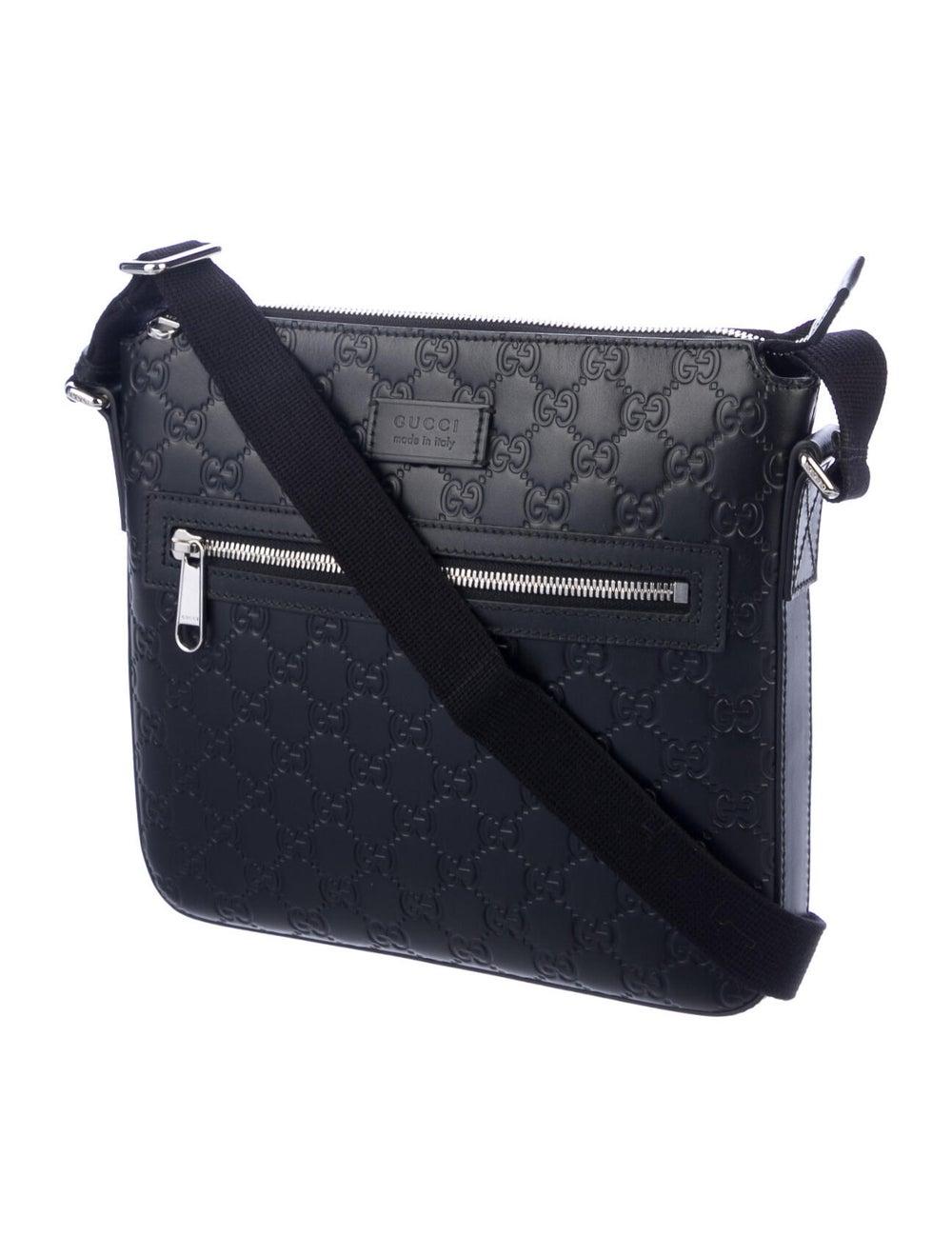 Gucci Signature Messenger Bag Black - image 3