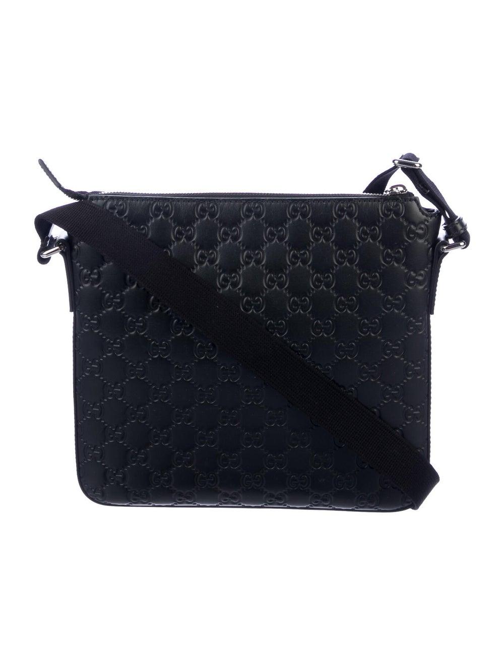 Gucci Signature Messenger Bag Black - image 4
