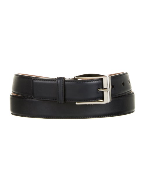 Gucci Leather Buckle Belt Navy