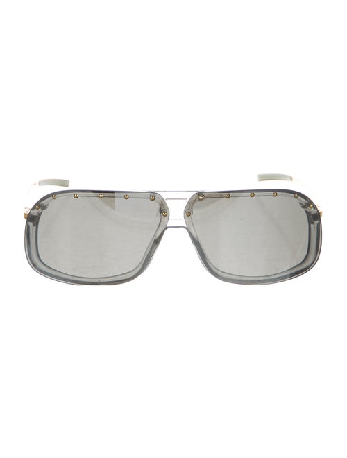 Gucci Rimless Polarized Sunglasses Gold