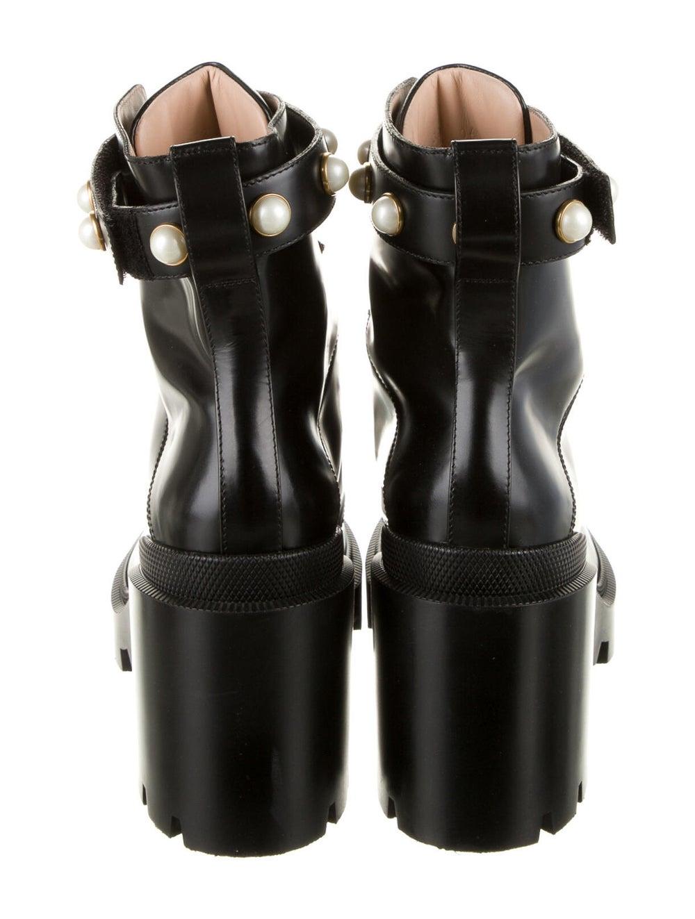 Gucci Trip Leather Combat Boots Black - image 4