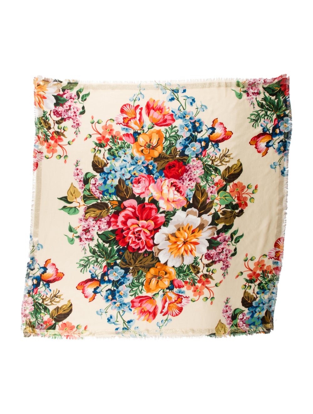 Gucci Floral Printed Scarf w/ Tags multicolor - image 1